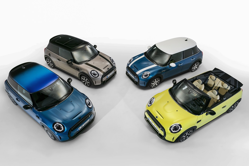MINI restyling 2021 tetto policromatico
