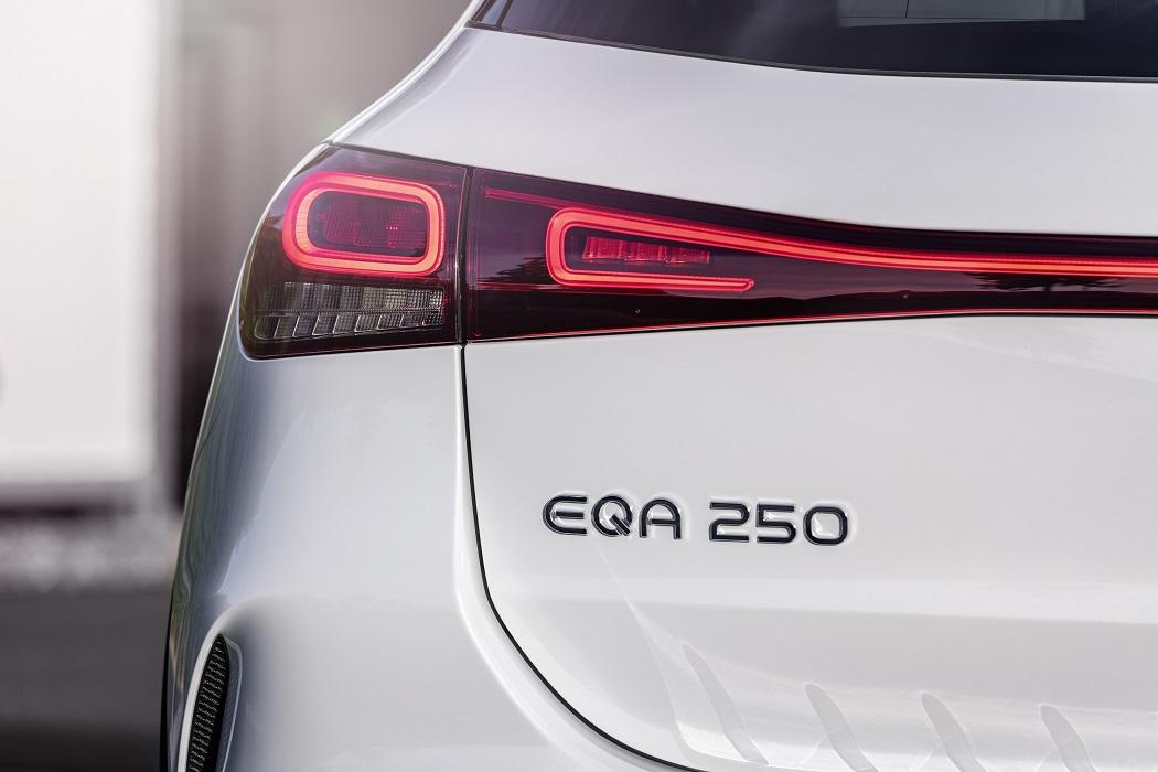 Il logo di Mercedes EQA 250