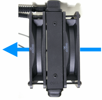 Push and pull ventole dissipatore