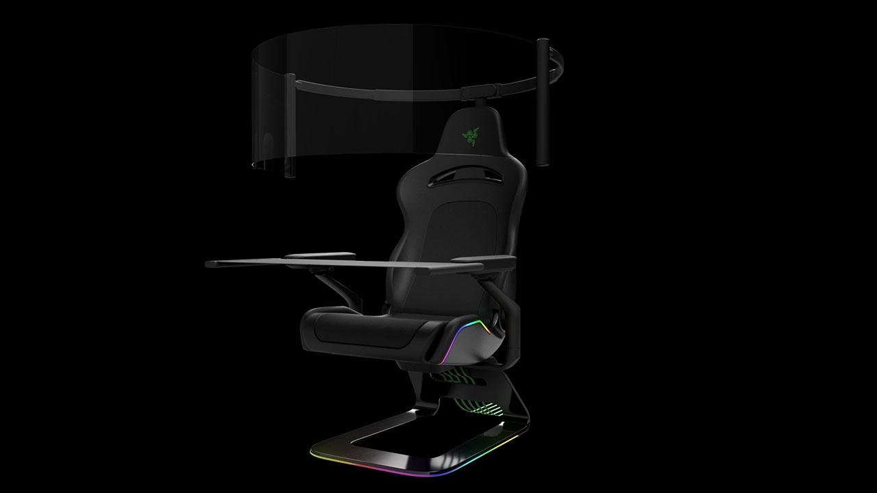 La sedia da gaming del futuro è con display e tavolo integrati thumbnail