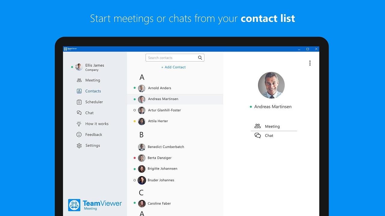 TeamViewer Meeting: per avviare le videoconferenze basta un clic thumbnail