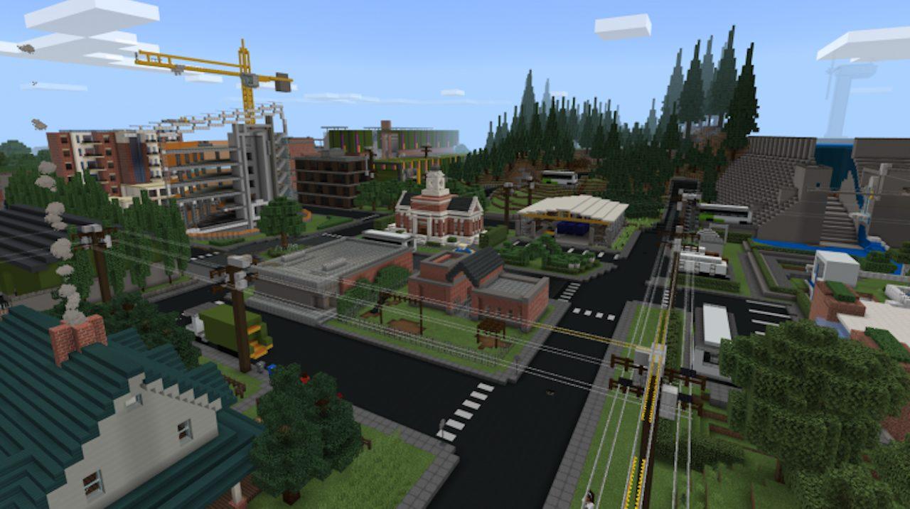 Il report di sostenibilità di Microsoft è una mappa di Minecraft thumbnail
