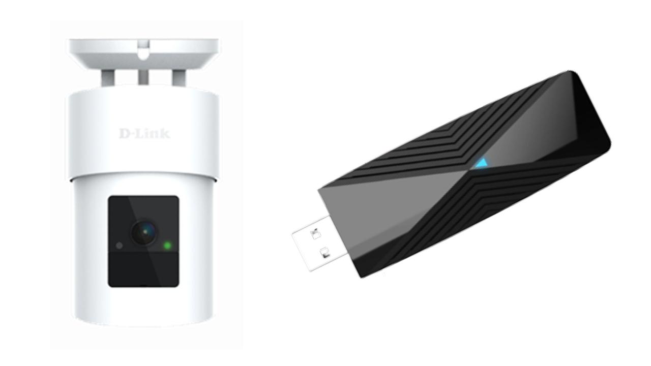 La fotocamera per esterni e l'adattatore Wi-Fi di D-Link
