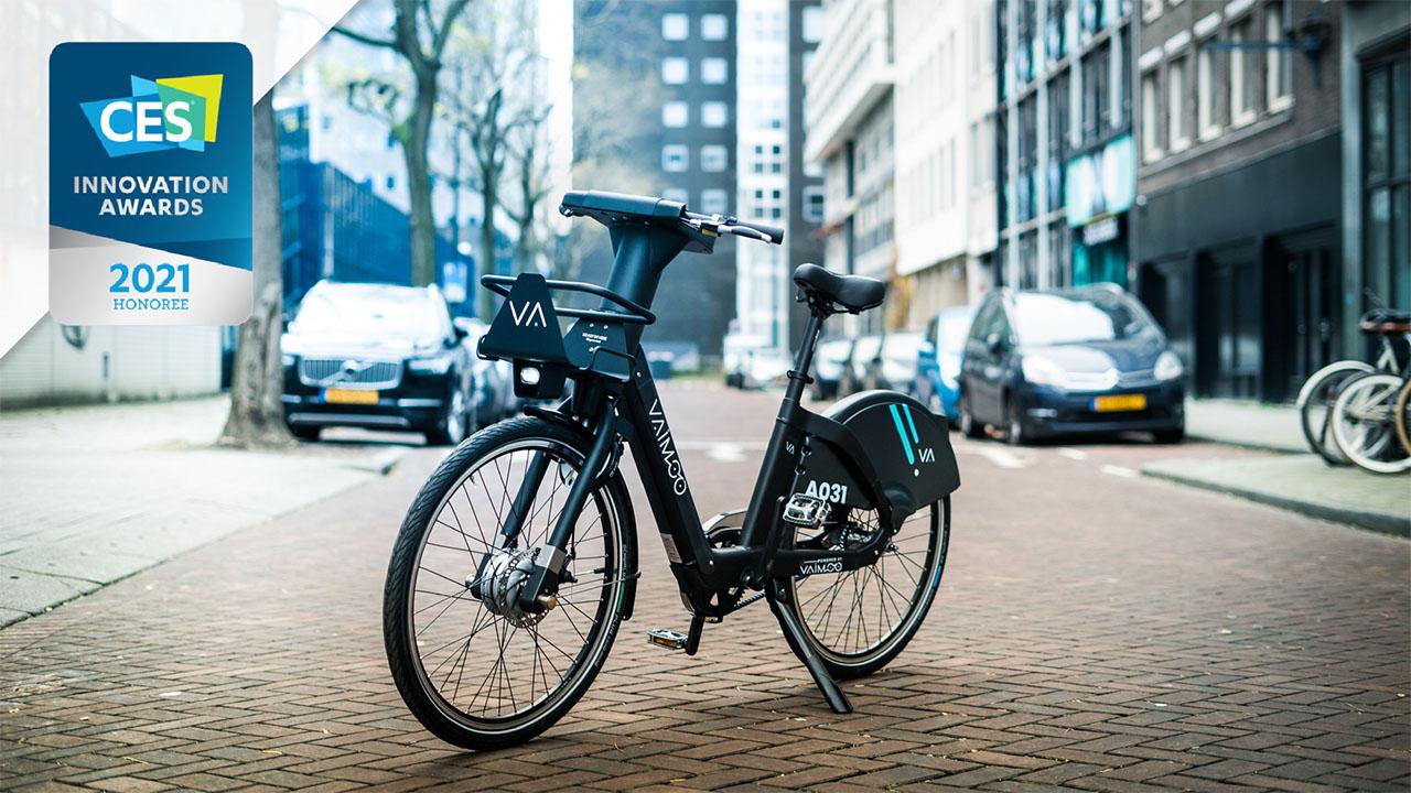 VAIMOO, la soluzione italiana di e-bike sharing viene premiata al CES 2021 thumbnail