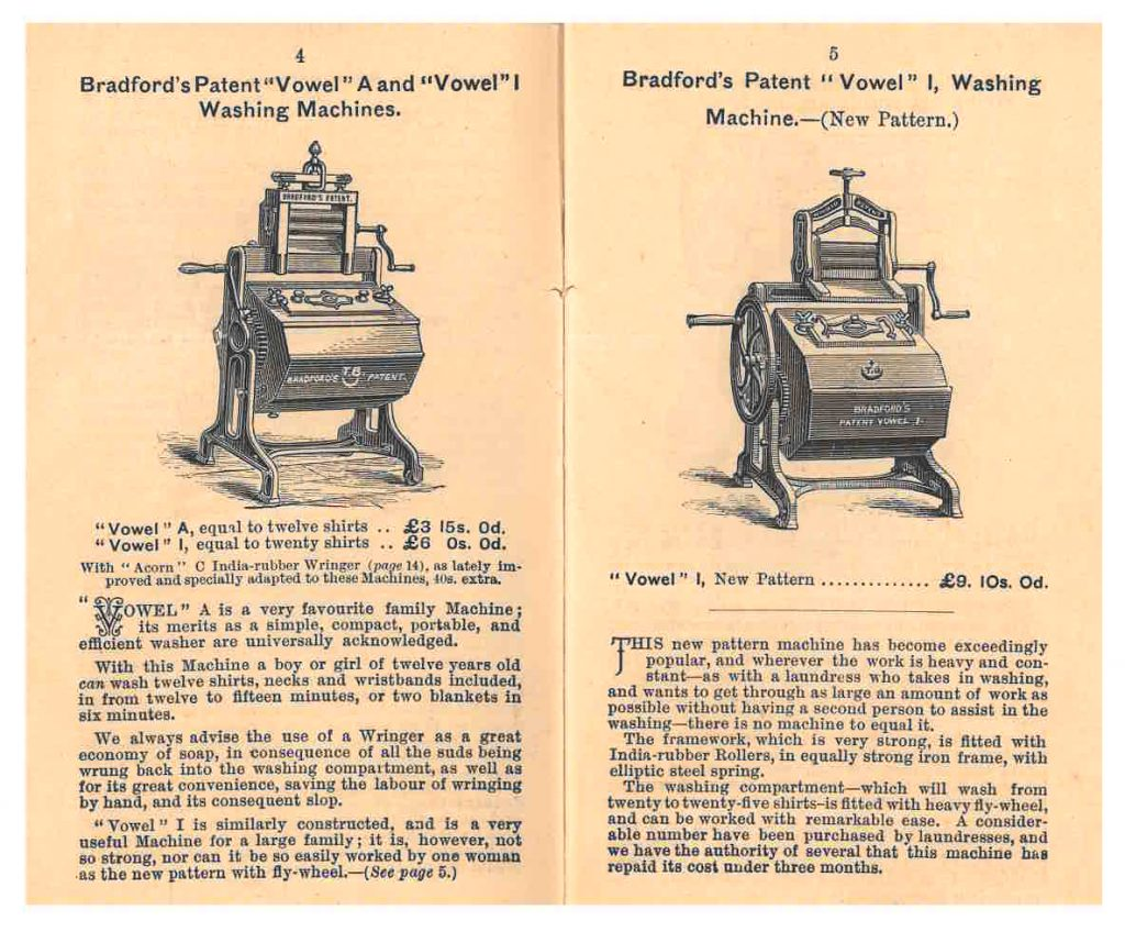 chi ha inventato la lavatrice Thomas Bradford