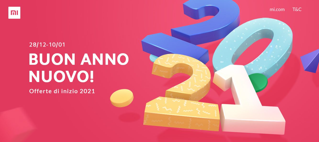 """Offerte Xiaomi di """"Buon Anno Nuovo"""": arrivano gli sconti di inizio 2021 thumbnail"""