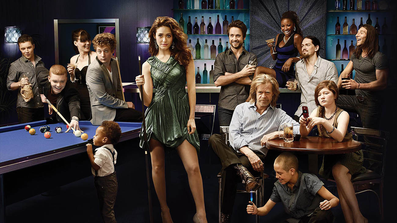 fiona e famiglia gallagher serie tv shameless