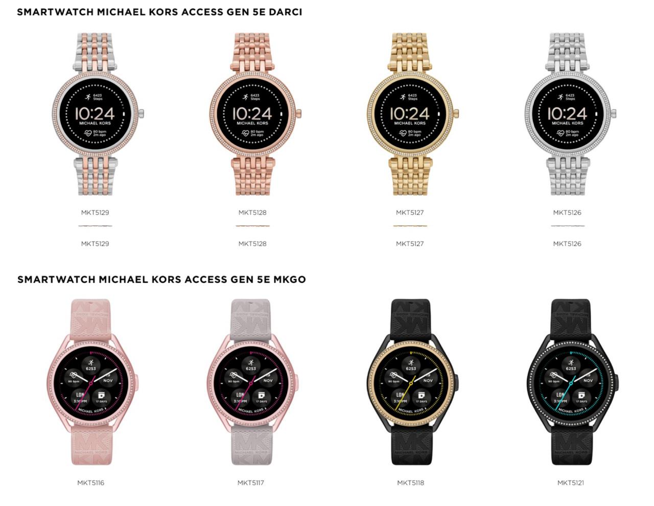 smartwatch michael kors access gen 5e