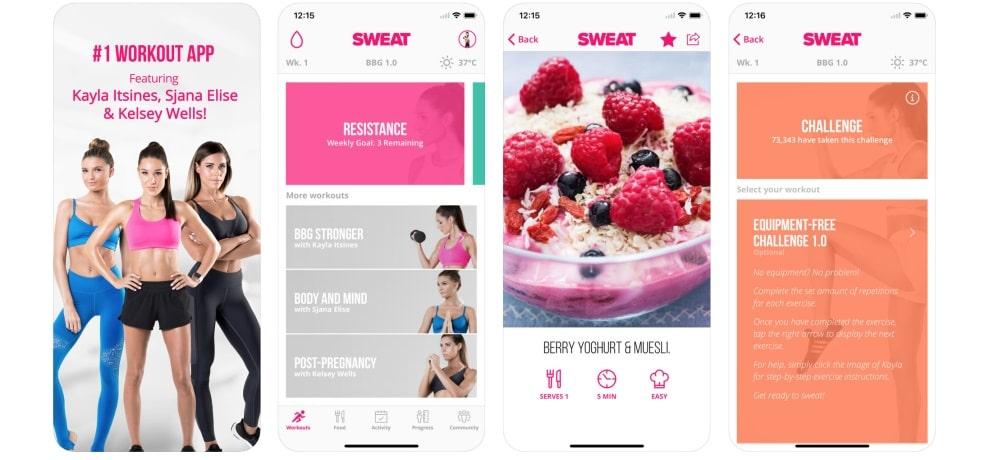 sweat app allenamento per donne