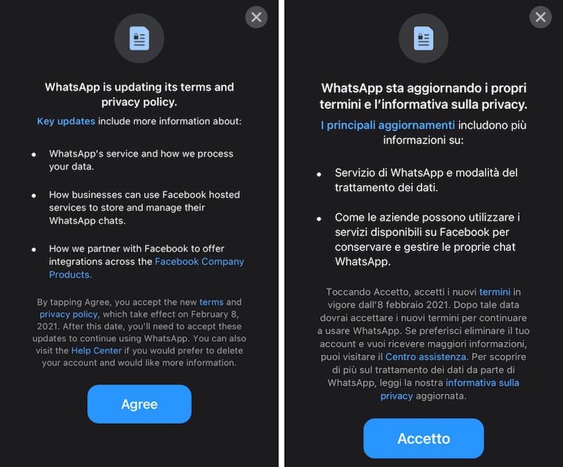 Whats App nuova informativa privacy