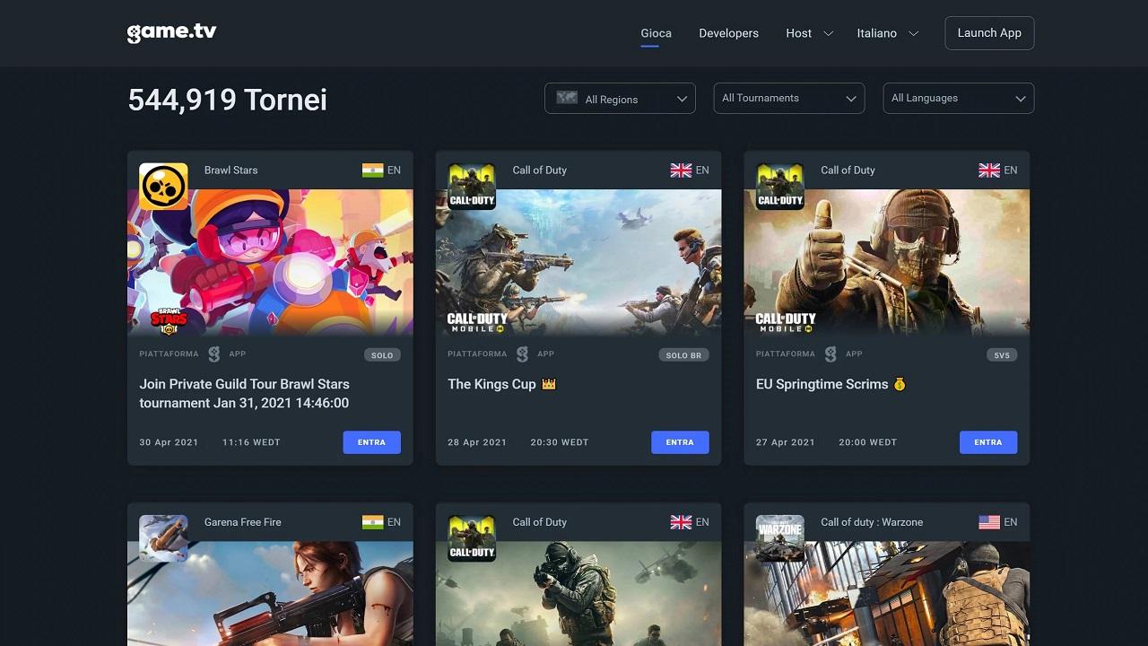 La piattaforma eSports mobile Game.TV supera gli 11 milioni di iscritti thumbnail