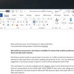 Microsoft Word Text Predictions