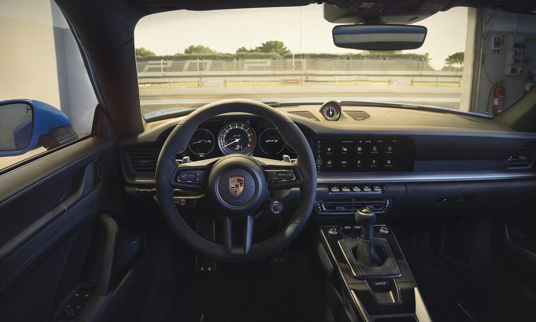 Gli interni di Porsche 911 GT3