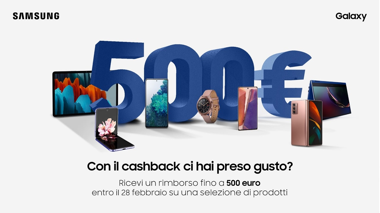 Samsung lancia una promozione cashback su tutta la linea Galaxy thumbnail