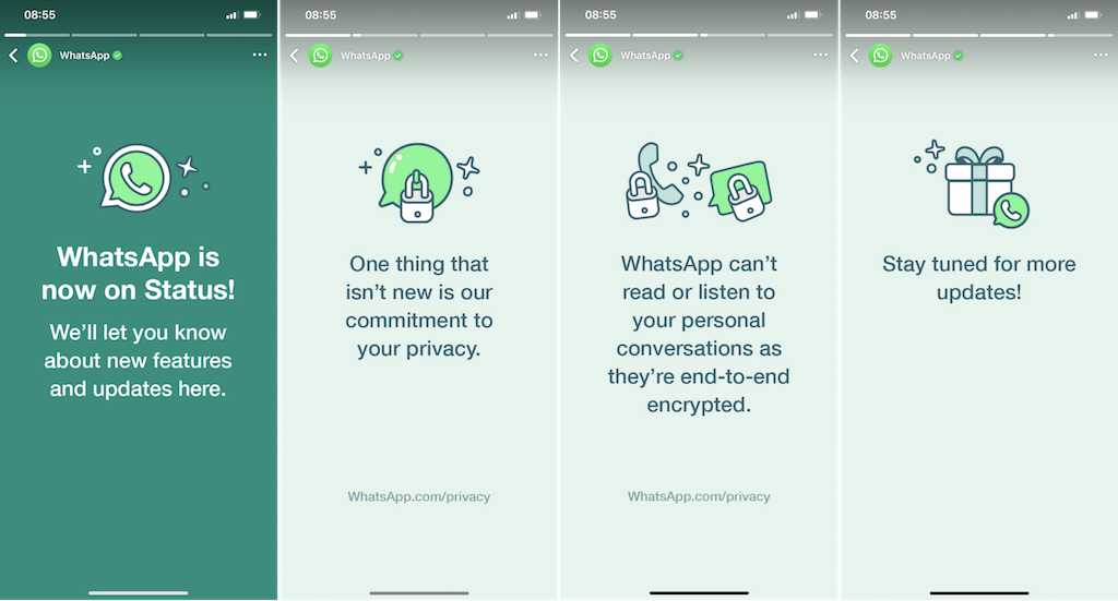 WhatsApp Stories privacy