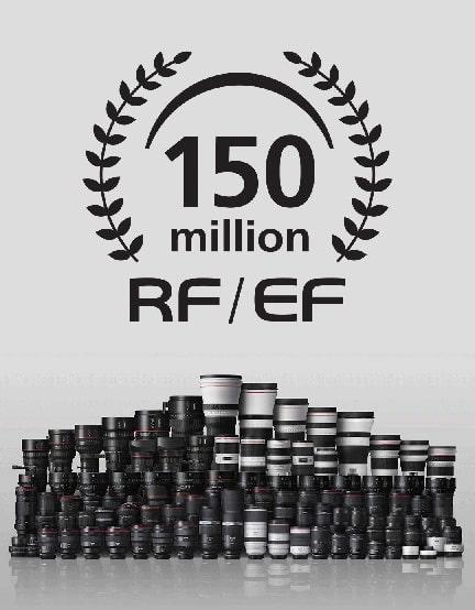 canon obiettivi ef rf record