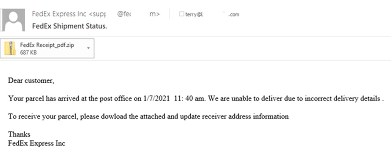 email phishing fedex