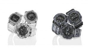 G-SHOCK presenta le nuove collezioni Skeleton dal design minimale  G-SHOCK ha presentato due nuove collezioni Skeleton caratterizzate da cinturino e lunetta completamente trasparenti