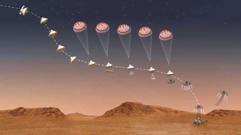 perseverance atterrato su marte rover della nasa sul pianeta rosso