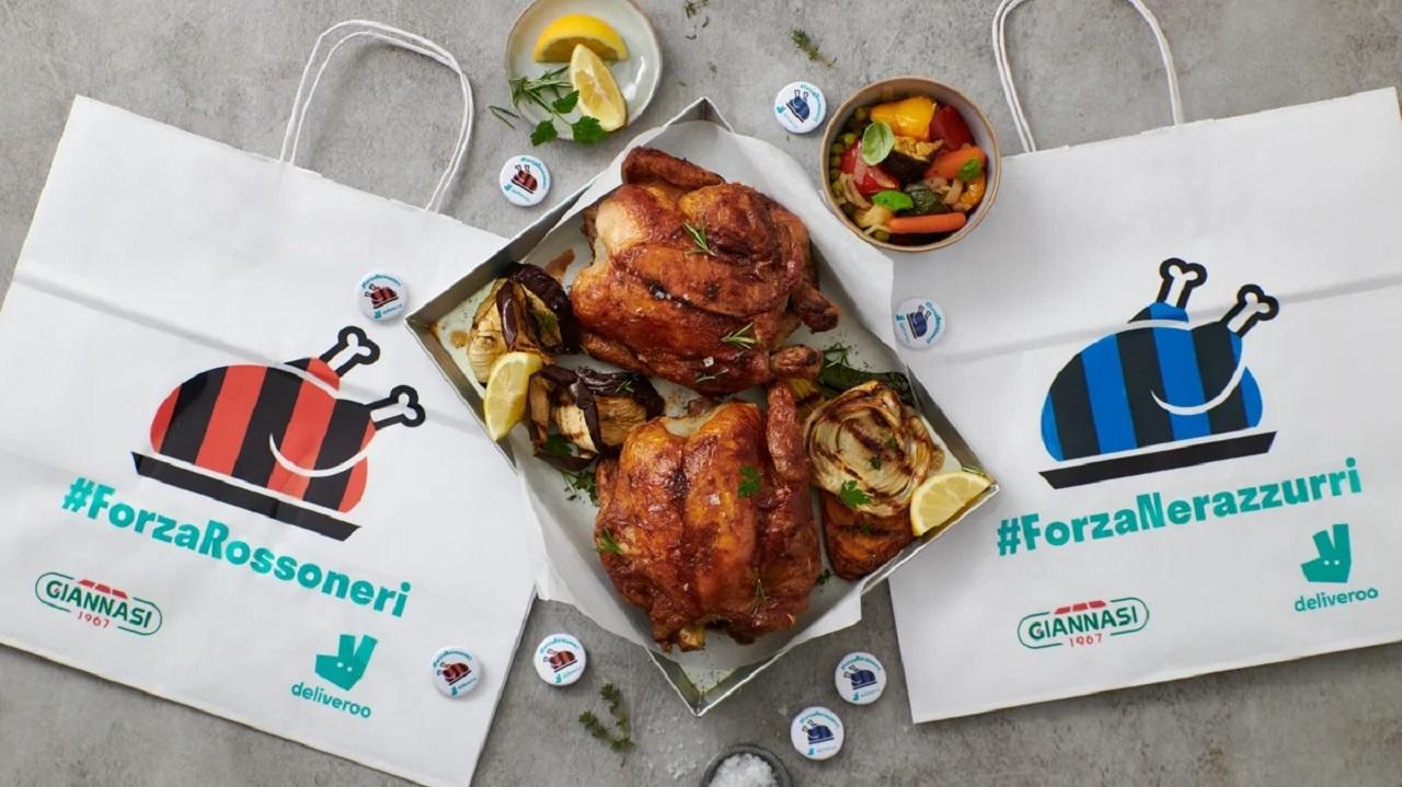 Deliveroo presenta un pollo allo spiedo speciale per il derby di Milano thumbnail
