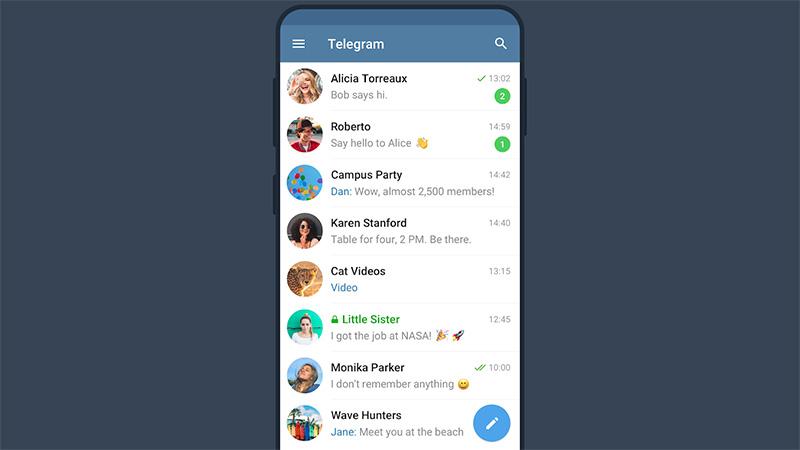 come funziona telegram chat contatti