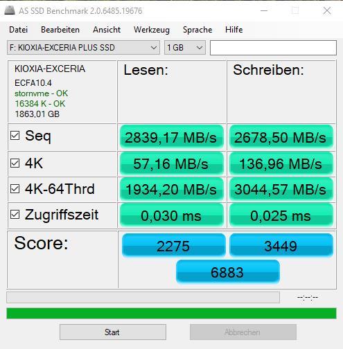 AS SSD KIOXIA Exceria Plus