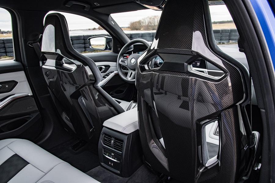 BMW M3 e M4 2021 sedili a guscio