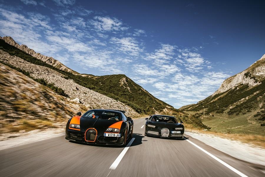 Bugatti e Porsche Veyron e CHiron
