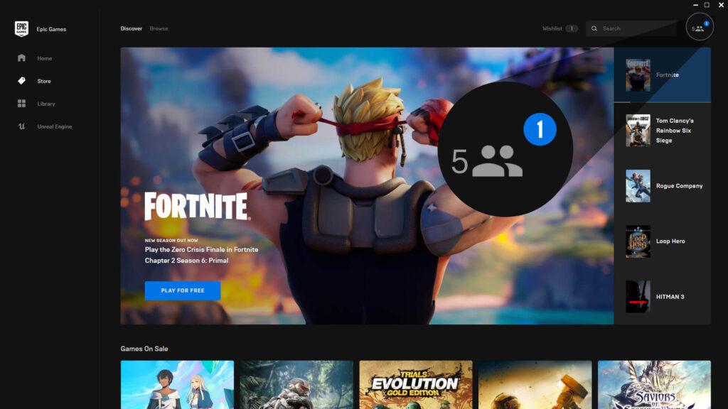Epic Games Store aggiornamento