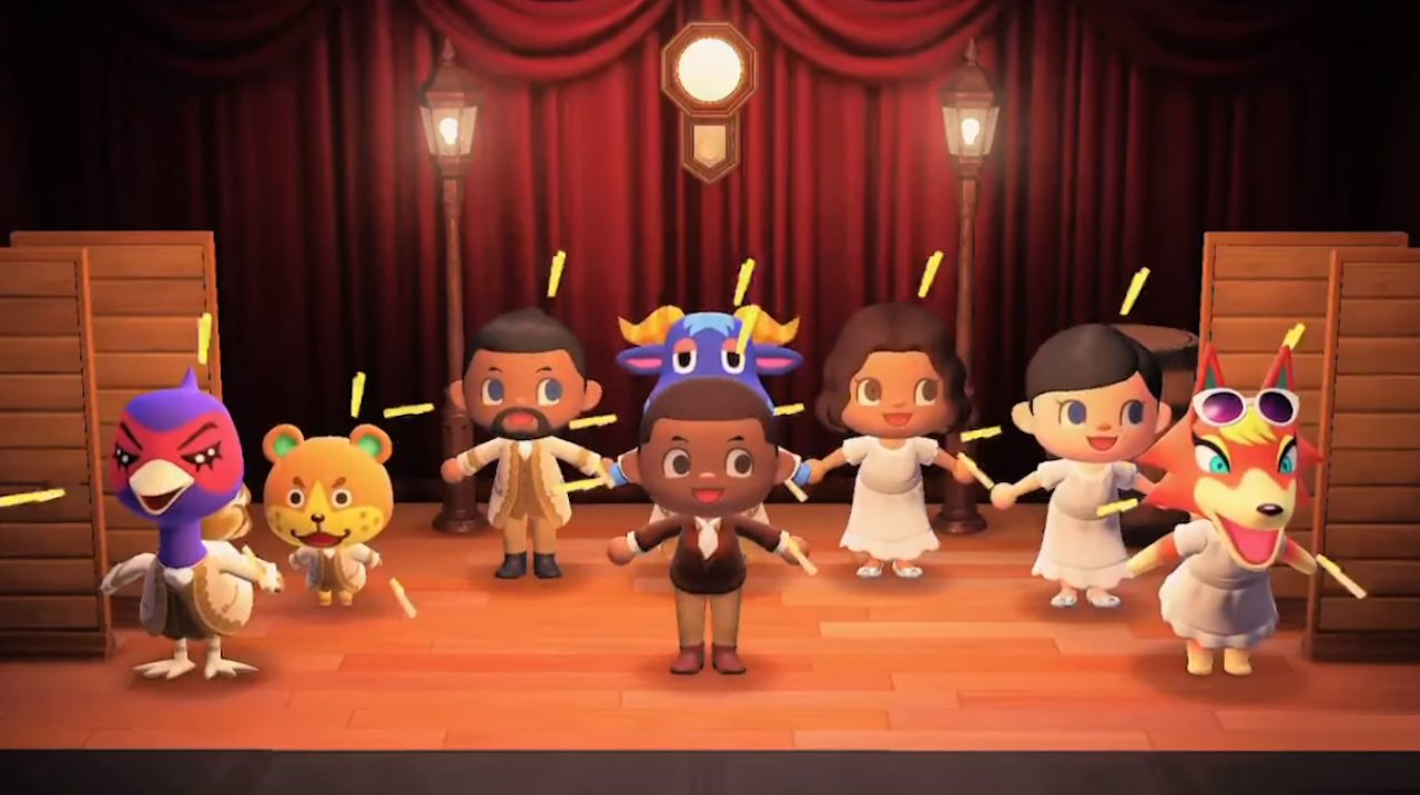 "Il primo atto del musical ""Hamilton"" arriva su Animal Crossing thumbnail"