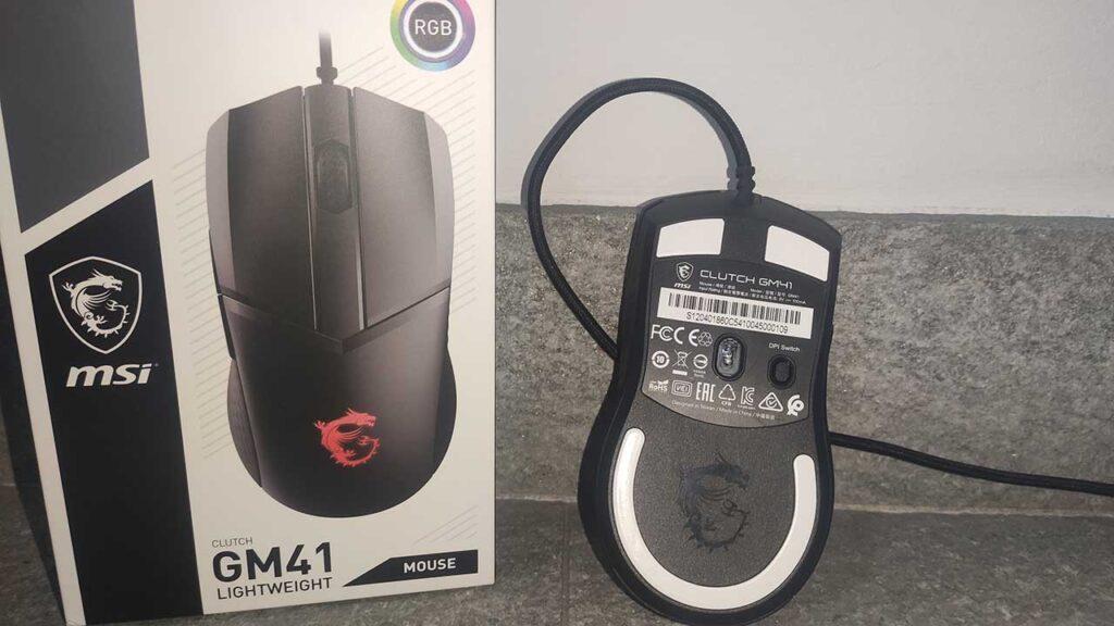 MSI Clutch GM41 recensione sensore