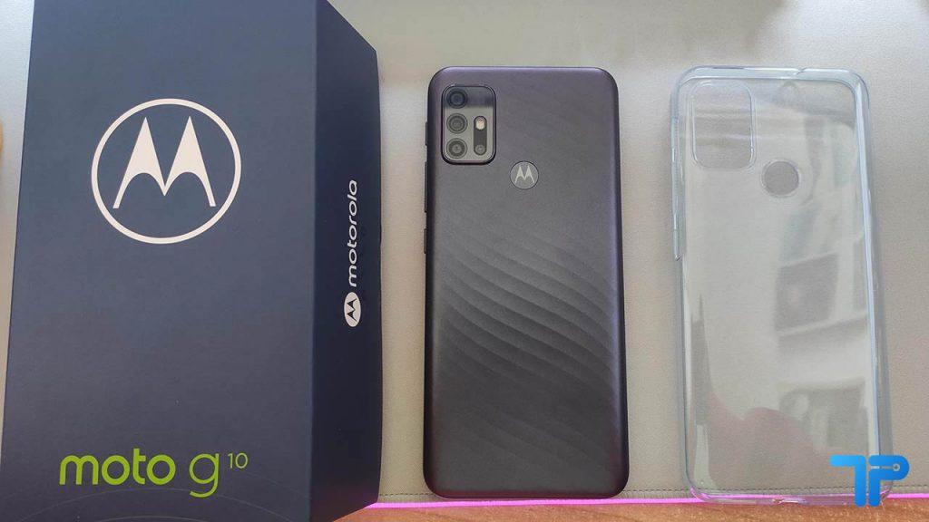 Motorola Moto G10 scatola, cover