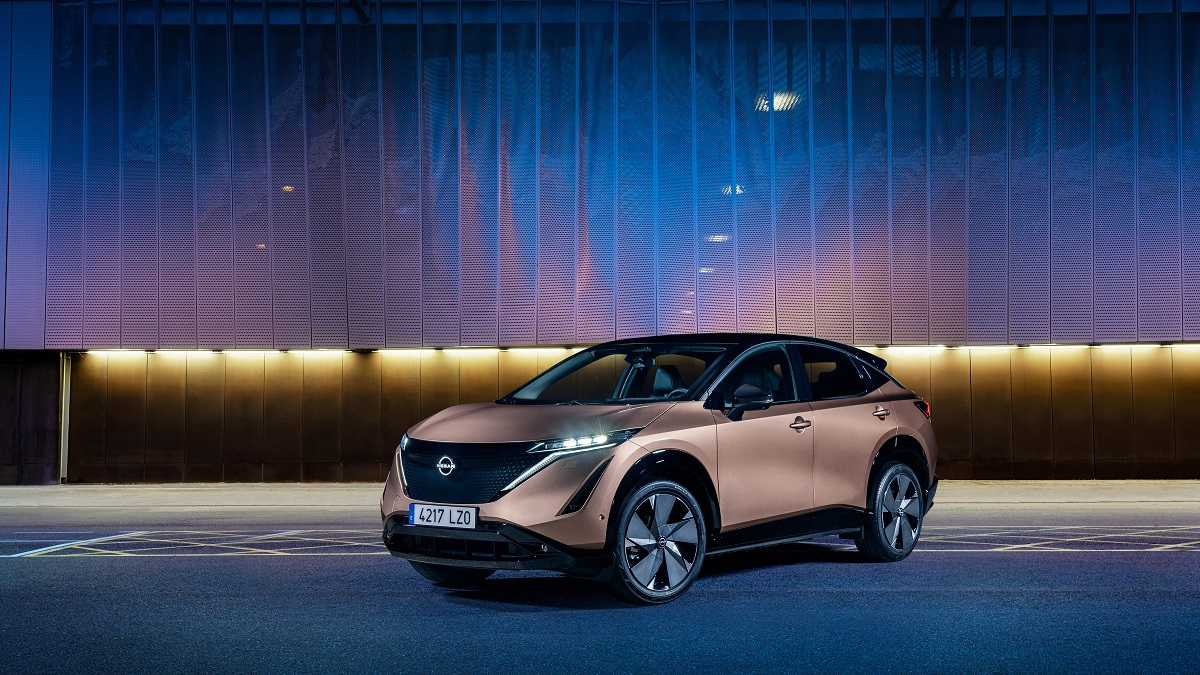 Nissan Ariya: svelata la gamma colori del crossover thumbnail