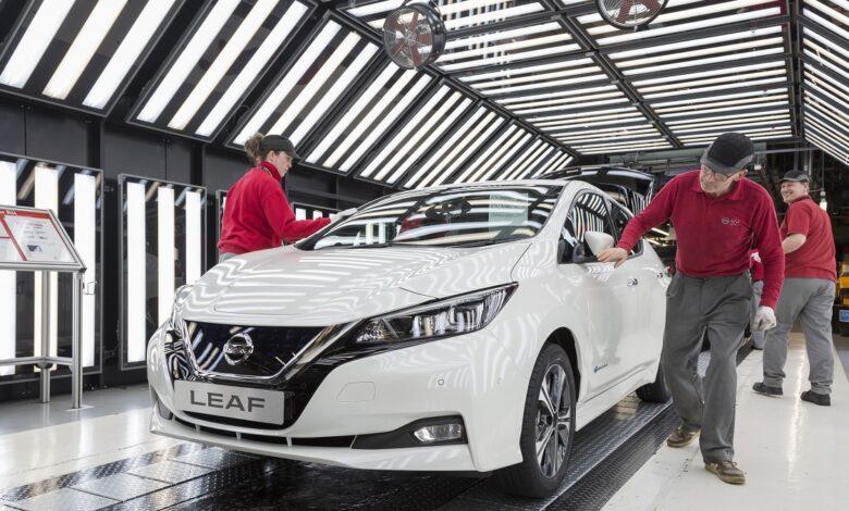 Nissan Leaf produzione
