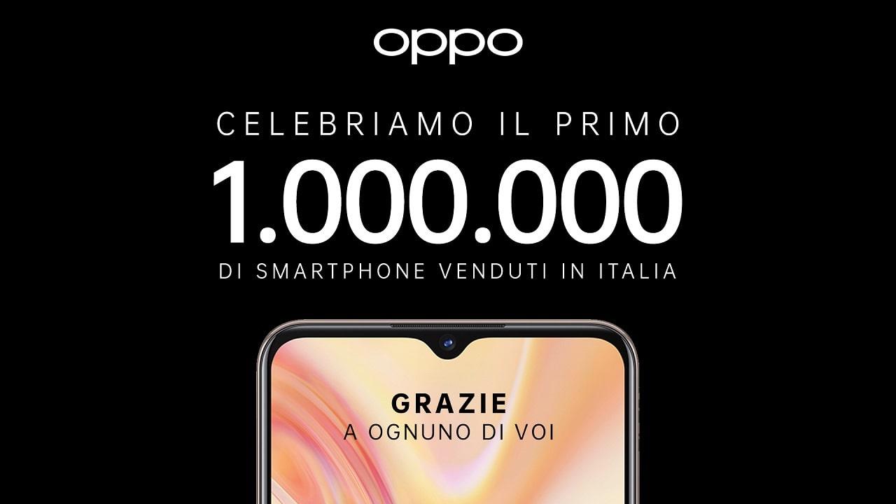Oppo ha venduto un milione di smartphone in Italia thumbnail
