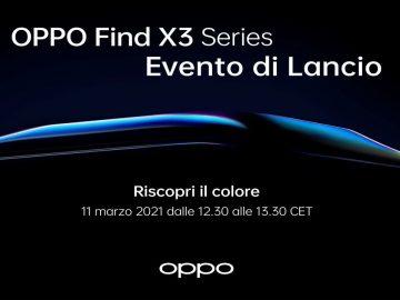 OPPO Find X3 pro Evento di Lancio 11 Marzo 2021