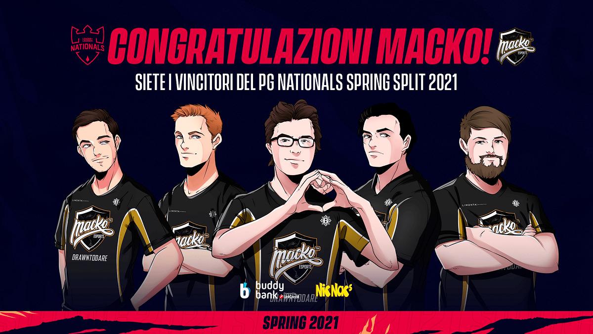 PG Nationals Spring Split 2021: trionfo per i Macko Esports thumbnail