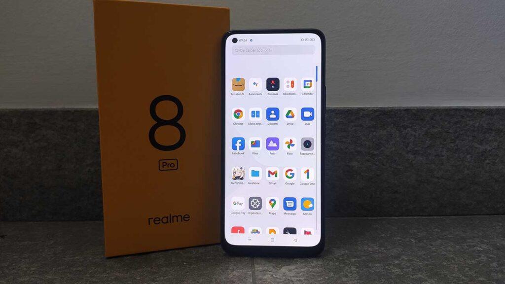 Realme 8 Pro recensione app