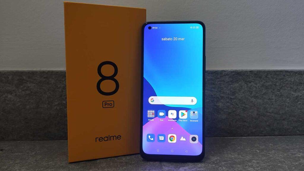 Realme 8 Pro recensione fronte