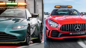 La Safety Car si fa doppia: in F1 insieme alla Mercedes-AMG GT R ci sarà anche l'Aston Martin Vantage  Safety Car F1, dopo 25 anni alle Mercedes si affiancano due Aston Martin