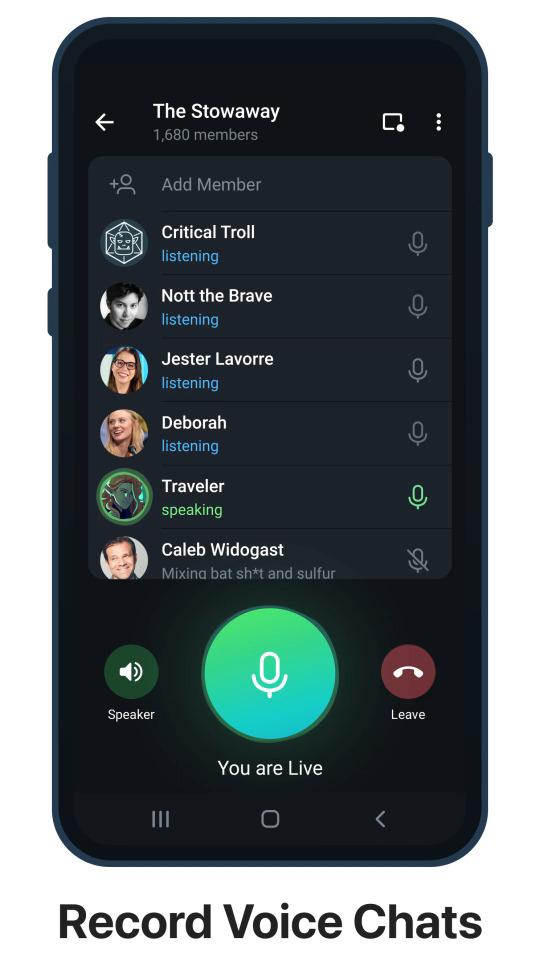 Telegram chat audio