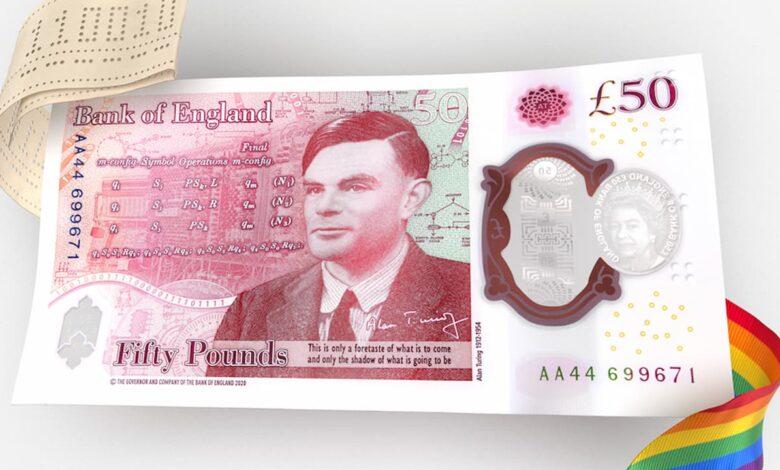 alan turing banconota inglese