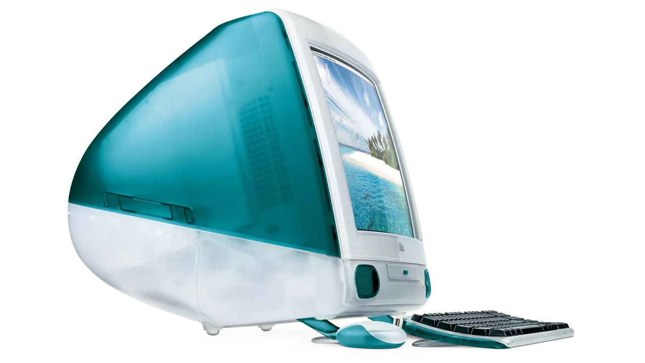 apple imac G3 blue 1998