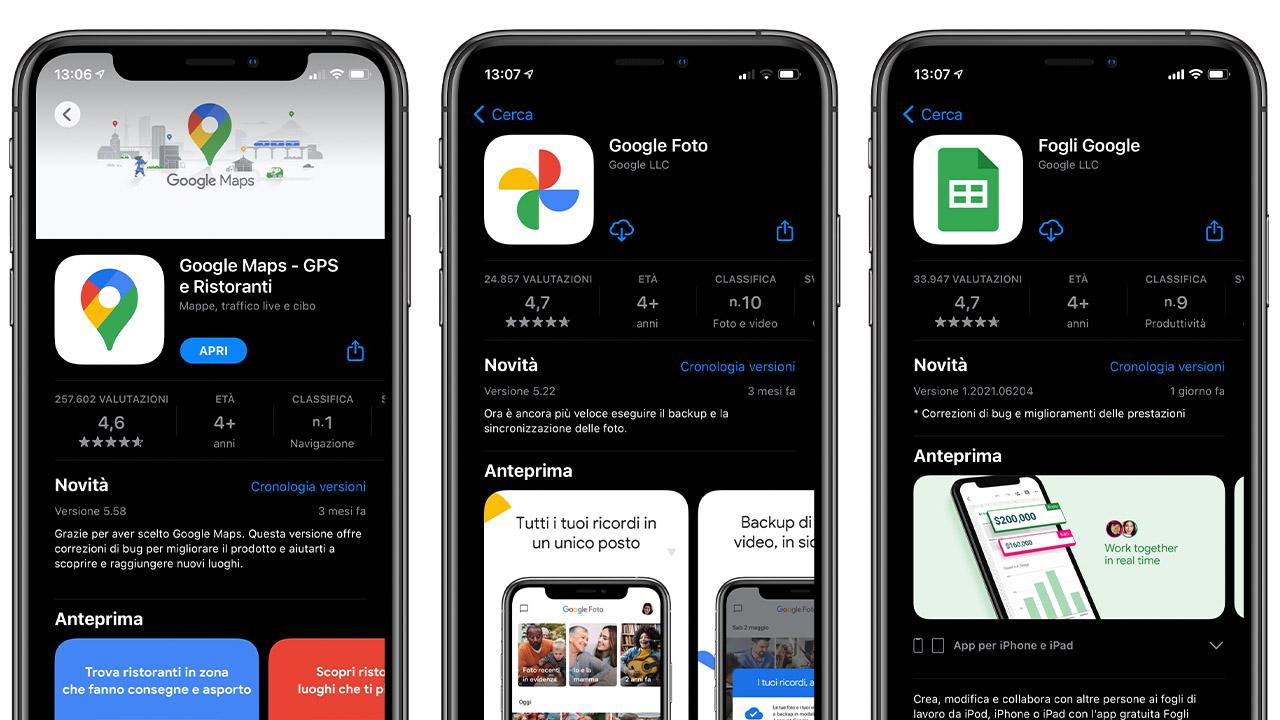Le applicazioni Google per iOS si aggiornano dopo mesi di stop thumbnail