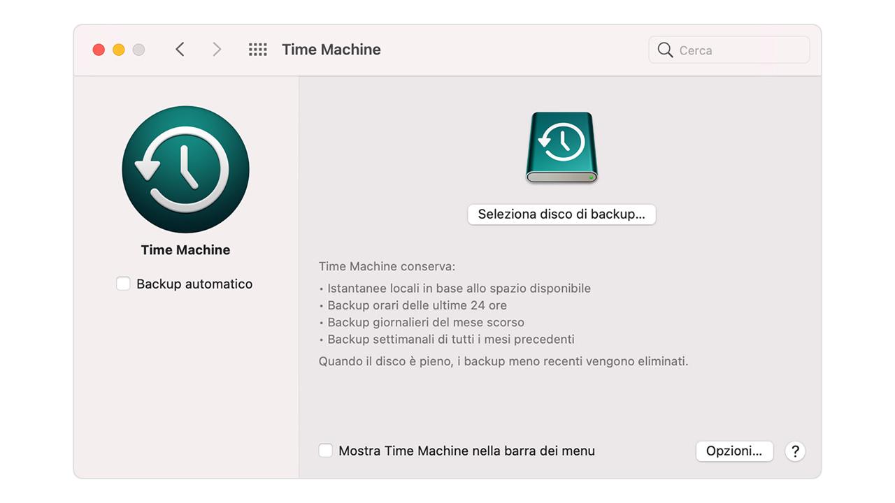Backup Mac Time Machine