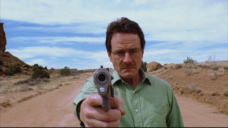 breaking bad walter white bryan cranston pistola