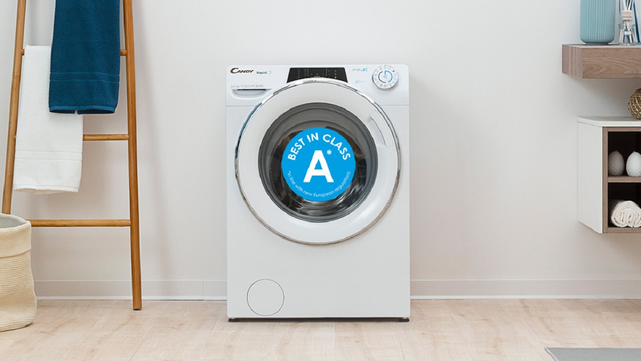 Le lavatrici Candy premiate dalla nuova etichetta energetica thumbnail