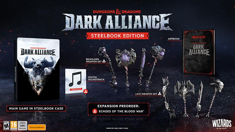 dark alliance dungeons & Dragons videogioco steelbook contenuto