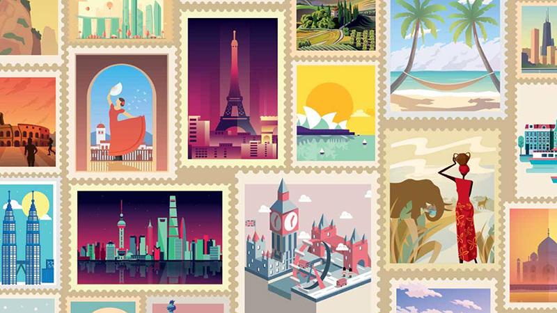 poster destinazioni turistiche qatar airways paypal