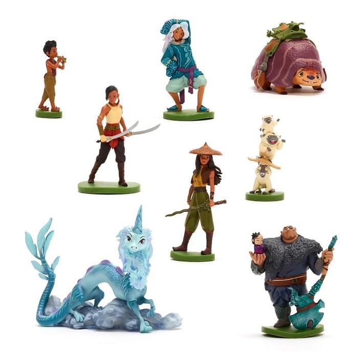 raya e l'ultimo drago set personaggi disney store gadget